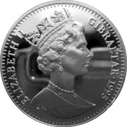 2.8 ECUs - Elizabeth II (Horatio Nelson) – obverse