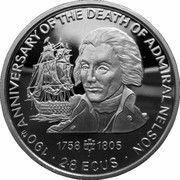 2.8 ECUs - Elizabeth II (Horatio Nelson) – reverse