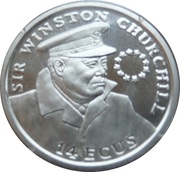 14 ECUS - Elizabeth II (Sir Winston Churchill) – reverse