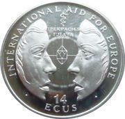 14 Ecus - Elizabeth II (International Aid for Europe) – reverse