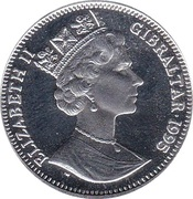 14 ECUs - Elizabeth II (L'Arc de Triumph) – obverse