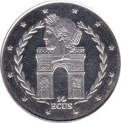 14 ECUs - Elizabeth II (L'Arc de Triumph) – reverse