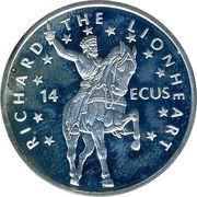 14 ECUs - Elizabeth II (Richard the Lionheart) – reverse