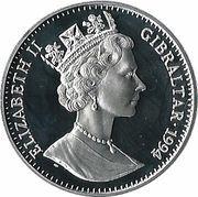 21 ECUs - Elizabeth II (Euro Tunnel) – obverse