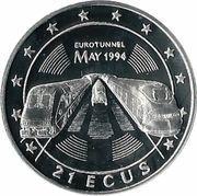 21 ECUs - Elizabeth II (Euro Tunnel) – reverse