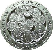21 ECUs - Elizabeth II (EEC) – reverse