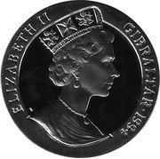21 ECUs - Elizabeth II (Europa on a Bull) – obverse