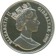 21 ECUs - Elizabeth II (Europa with shield of Austria, Sweden and Finland) – obverse