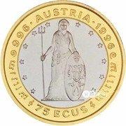 75 ECUs - Elizabeth II (1000 Years of Austria) – reverse