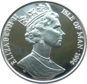 15 ECUS - Elizabeth II (Manx Cat on Shield) – obverse