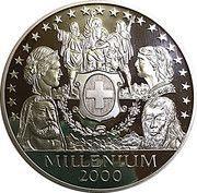 5 oz Silver (Helvetia Thaler - Millennium) – obverse