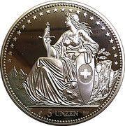 5 oz Silver (Helvetia Thaler - Millennium) – reverse