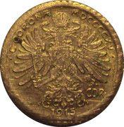 10 Corona - Franz Joseph I – reverse