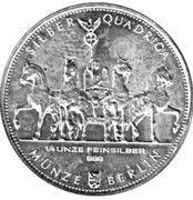 ¼ oz Silver (Silber Quadriga) – obverse