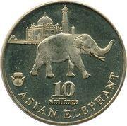 10 Shillings (Asian Elephant) – reverse