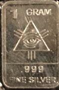 1 Gram Silver bar (All-seeing eye) – obverse