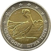 2 (Montenegro Euro Fantasy Token) – obverse
