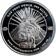 1 oz Silver (First Majestic, Mayan) – obverse