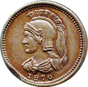 ⅛ Penny (Anticosti Islands) – obverse