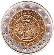 2 (San Marino Euro Fantasy Token) – obverse