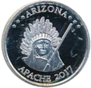 1 Quarter Dollar (Arizona - Apache) – reverse