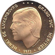 Prince Henry Hereditary Grand Duke of Luxembourg – obverse