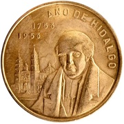 0.24 Onza (200th Anniversary Hidalgo's Birth; Medallic Gold Coinage) – reverse