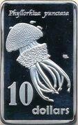 10 Dollars - Elizabeth II (Phyllorhiza punctata) – reverse