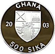 500 Sika (Olympic Games 2004) – obverse