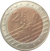 2 Euro (Germany Euro Fantasy Token) – reverse
