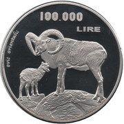 100 000 Lire – reverse