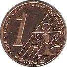 1 Cent (French Polynesia Euro Fantasy Token) – reverse