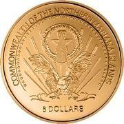 5 Dollars (Magalhaes) – obverse