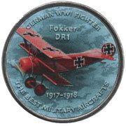 1 Shilling (Fokker DR1) – reverse