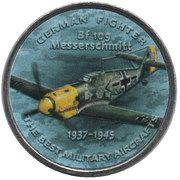 1 Shilling (Bf 109 Messerschmitt) – reverse