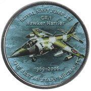 1 Shilling (GR.1 Hawker Harrier) – reverse