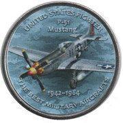 1 Shilling (P-51 Mustang) – reverse