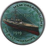 1 Shilling (HSM Dreadnought) – reverse