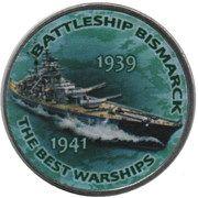 1 Shilling (Battleship Bismarck) – reverse
