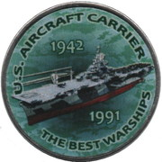 1 Shilling (USS Aircraft Carrier) – reverse