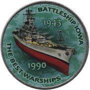 1 Shilling (Battleship Iowa) – reverse