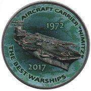 "1 Shilling (Aircraft Carrier ""Nimitz"") – reverse"