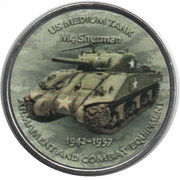 1 Shilling (M4 Sherman) – reverse