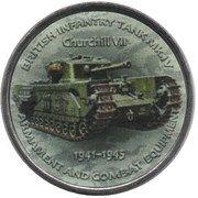 1 Shilling (Churchill VII) – reverse