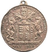 Medal - Royal Visit to Canada 1939 – reverse
