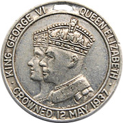 Medal - King George VI and Queen Elizabeth Coronation – obverse
