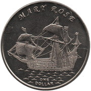 1 Dollar (Mary Rose) – reverse