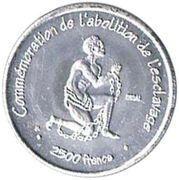 2500 Francs (Abolition of Slavery) – reverse
