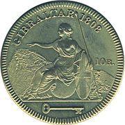 10 Reales - George III – reverse