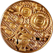 1 oz Copper(MJB Monetary Metals; Globe and Gears) – reverse